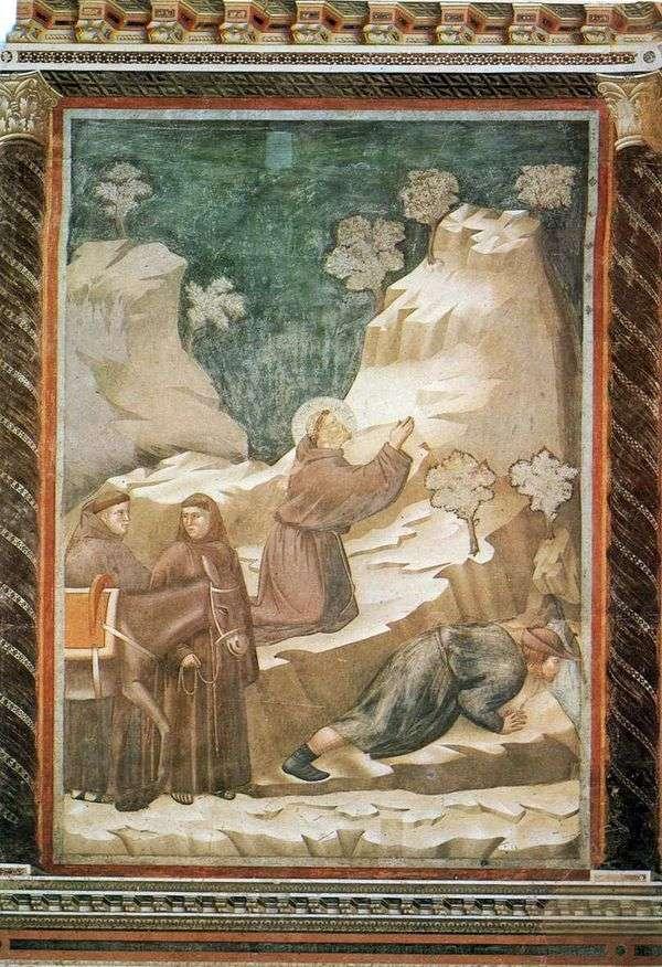 圣弗朗西斯从悬崖上散发着水  Giotto di Bondone