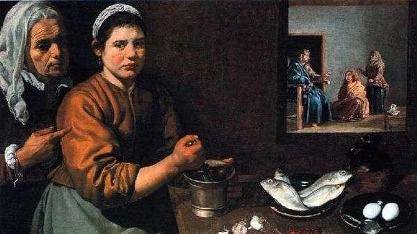 基督在玛莎和玛丽的房子里   Diego Velasquez