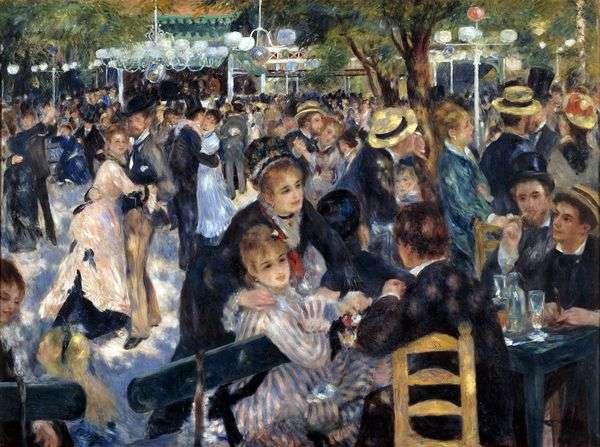 球在Moulin de la Galette   Pierre Auguste Renoir