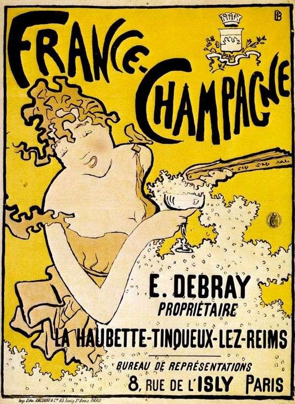 法国香槟海报   皮埃尔波纳德