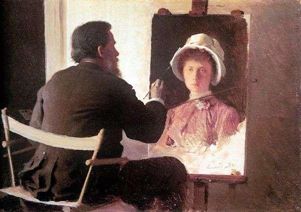 克拉姆斯科伊,写了他女儿的肖像   伊万克拉姆斯科伊
