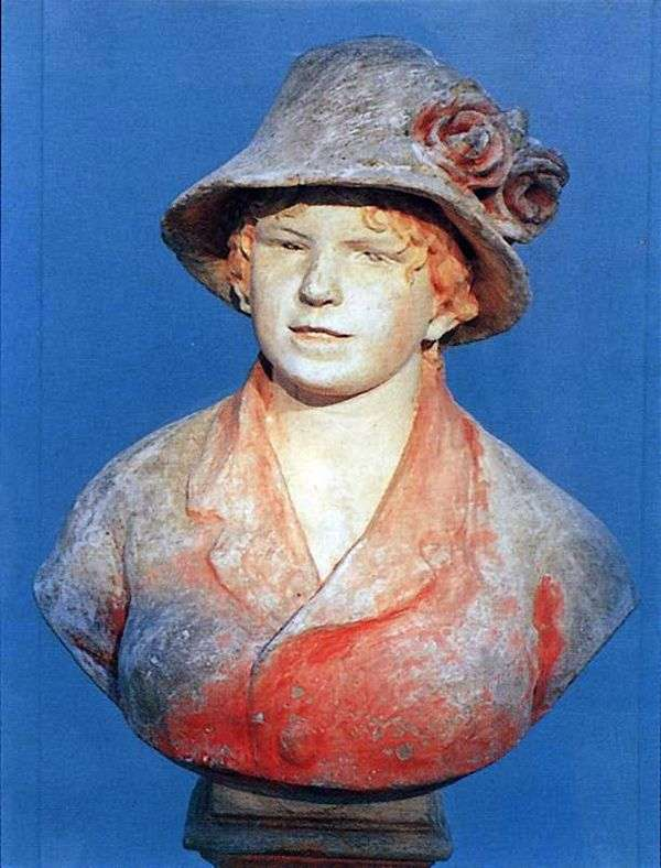雷诺阿的妻子阿丽娜   皮埃尔   奥古斯特雷诺阿的半身像