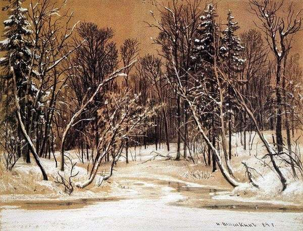 冬天的森林   伊万希什金