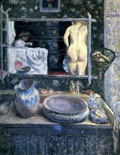 镜子在水槽上   皮埃尔波纳德