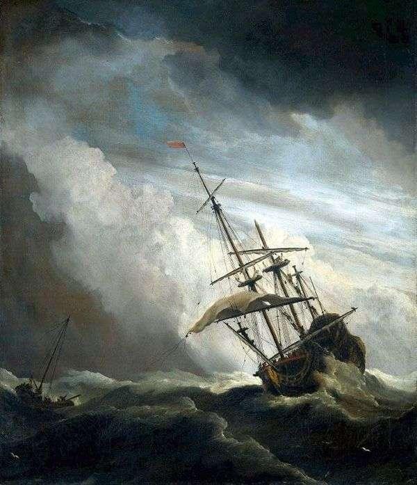 在公海上运送   Willem van de Velde