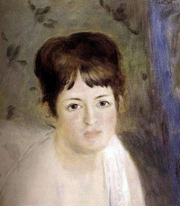 女人的头   皮埃尔奥古斯特雷诺阿