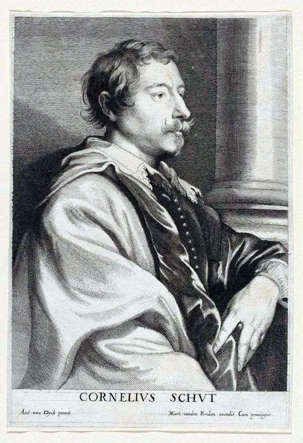 Cornelis Shata的肖像   Anthony Van Dyck