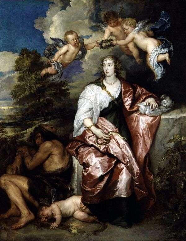 威尼斯迪格比夫人的肖像,体面谨慎   安东尼范戴克