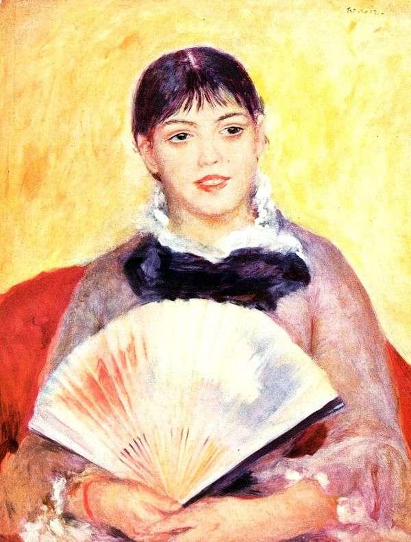 风扇的女孩   皮埃尔奥古斯特雷诺阿