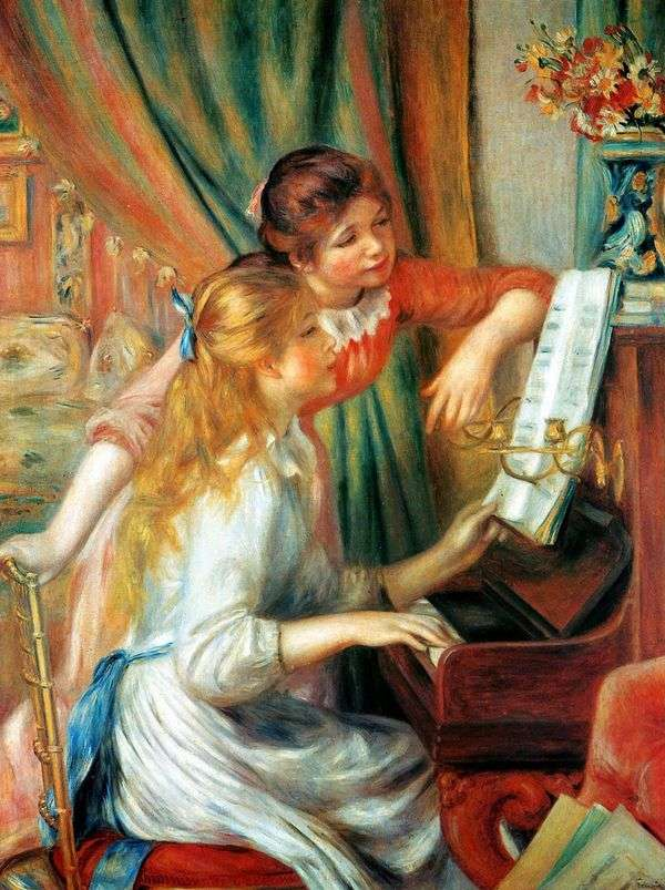 钢琴女孩(钢琴女孩)   皮埃尔奥古斯特雷诺阿