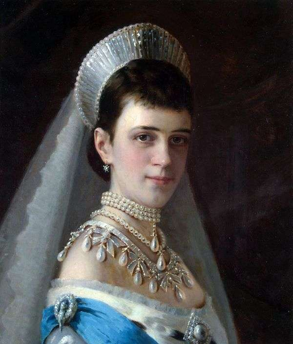 皇后玛丽亚Feodorovna在珍珠帽子的肖像   伊万Kramskoy