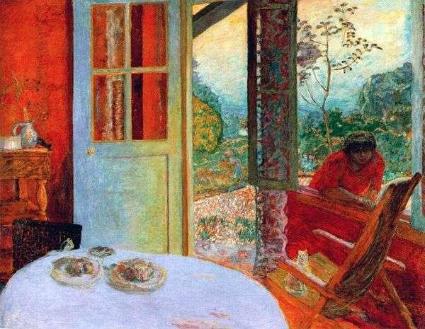 在乡间别墅用餐   Pierre Bonnard