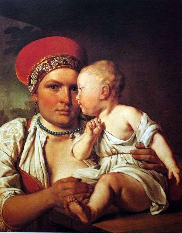 带着孩子的湿护士  Alexey Venetsianov