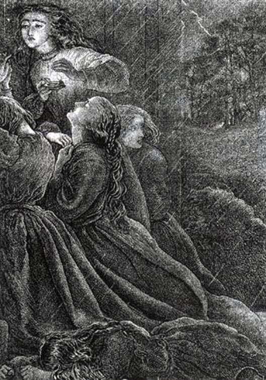 七个愚蠢的处女   John Everett Millais
