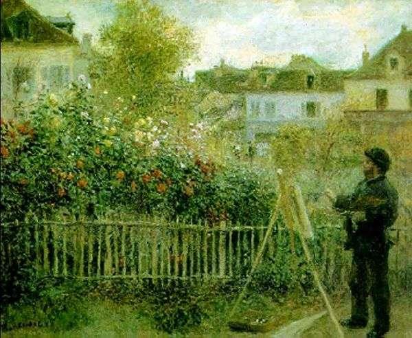 克劳德莫奈在他的花园里工作   皮埃尔奥古斯特雷诺阿