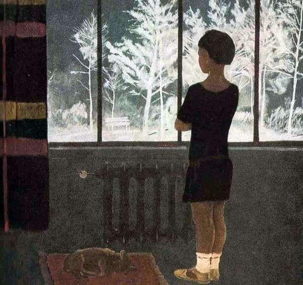 冬季。在窗口的女孩   亚历山大Deineka