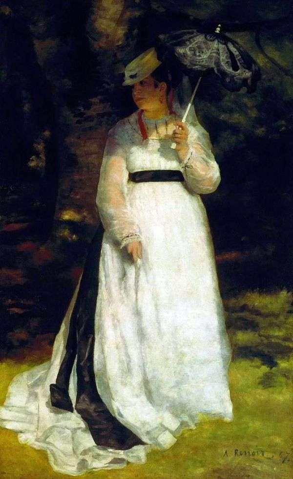 丽莎带着雨伞   皮埃尔奥古斯特雷诺阿