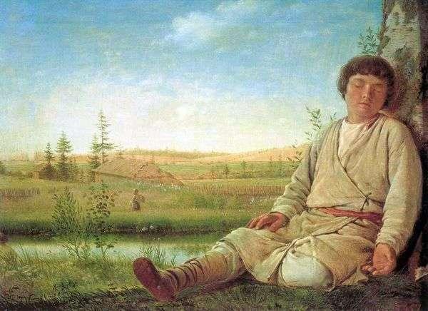 睡觉的牧羊人   Alexey Venetsianov