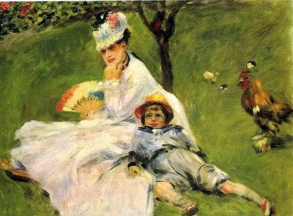 莫奈夫人在花园里   皮埃尔奥古斯特雷诺阿