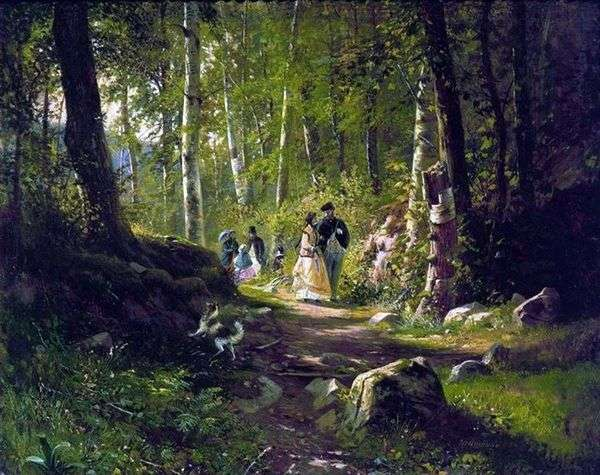 走在树林里   伊万 希什金