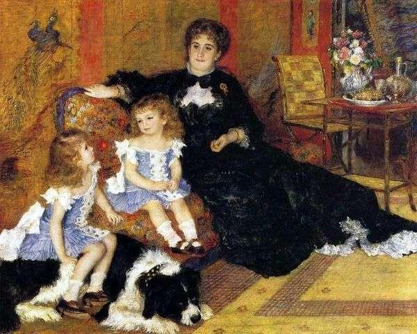 Charpentier夫人带着孩子   Pierre Auguste Renoir