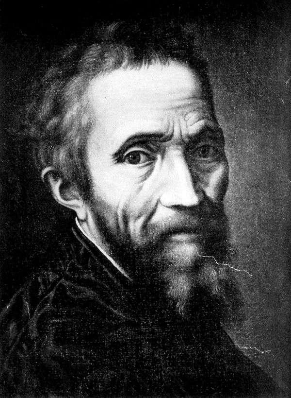 米开朗基罗Buonarroti   Marcello Venusti的肖像