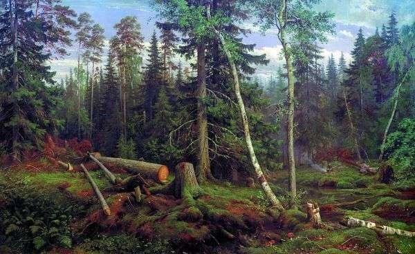 砍伐木材   Ivan Shishkin