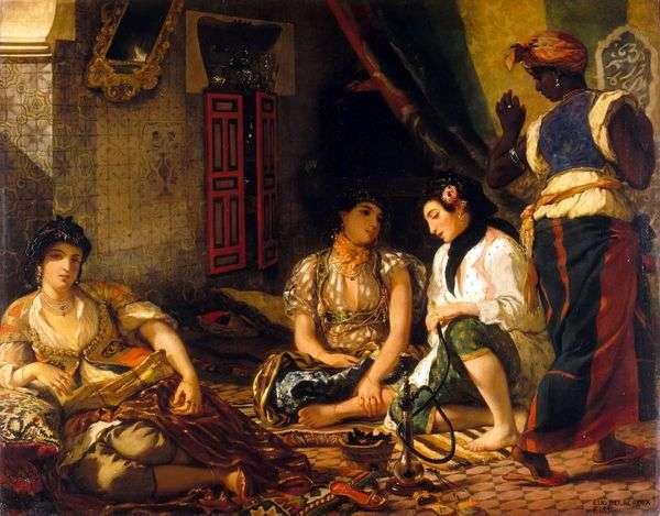 阿尔及利亚妇女在他们的房间   尤金德拉克罗瓦