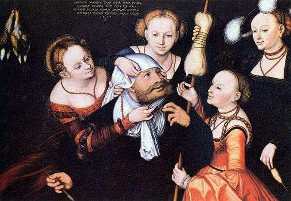 在Omphale的赫拉克勒斯   Lukas Cranach