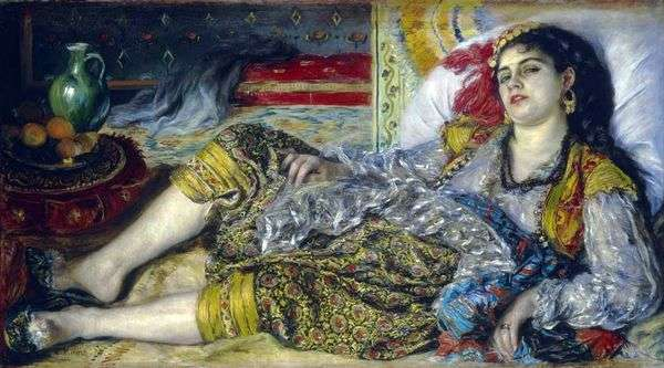 Odalisque(阿尔及利亚女子)   Pierre Auguste Renoir