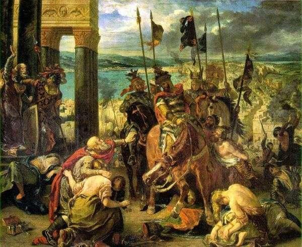 十字军占领君士坦丁堡   尤金德拉克罗瓦