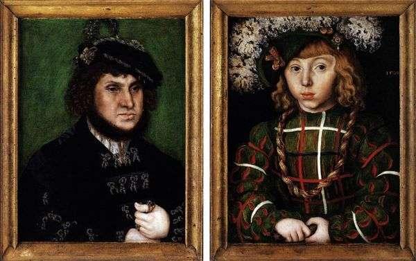 约翰特维迪和他的儿子约翰弗里德里希的双重肖像   卢卡斯克拉纳赫