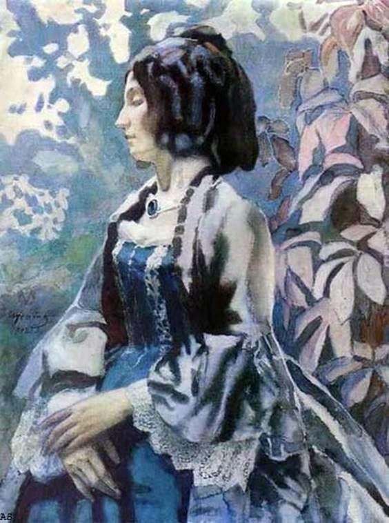 蓝色的夫人   Victor Borisov Musatov