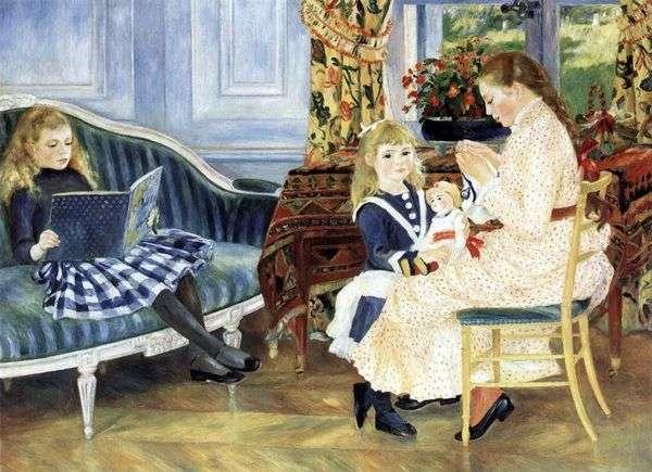 Vargemont的中午儿童   Pierre Auguste Renoir
