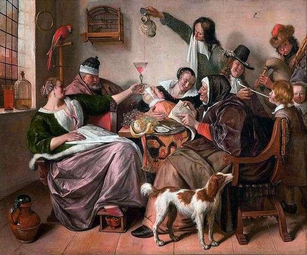 在艺术家的家庭中有趣   Jan Steen