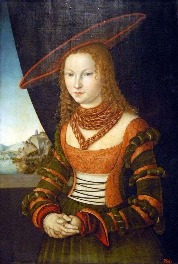 女人肖像   卢卡斯克拉纳赫