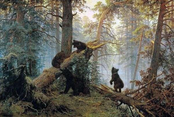 早上在松树林(三只熊)   伊万 希什金