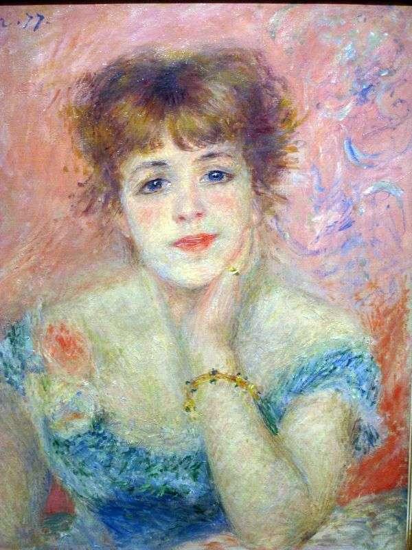 女演员Jeanne Samary   Pierre Auguste Renoir的肖像