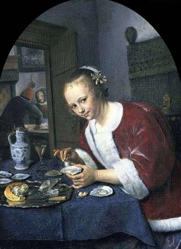 牡蛎的女孩   Jan Steen