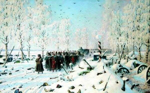 在高速公路上   撤退,飞行......   Vasily Vereshchagin