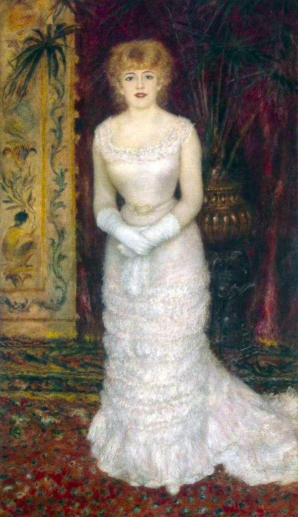 Jeanne Samary的画像在充分成长   Pierre Auguste Renoir