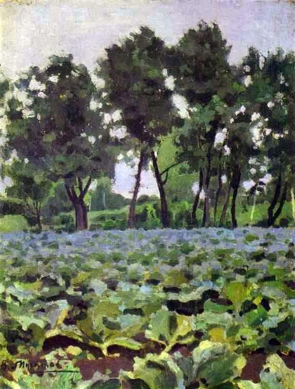 白菜和柳树   Victor Borisov Musatov