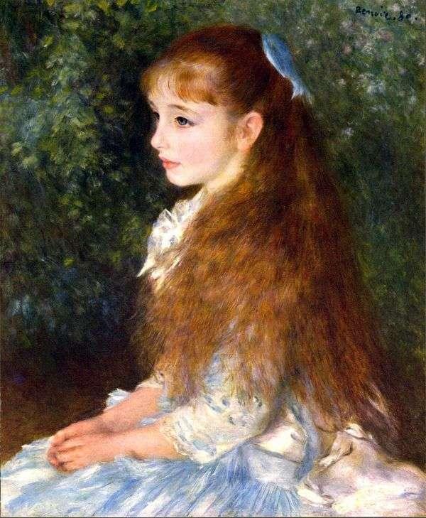 Irene Caen dAverse的肖像   Pierre Auguste Renoir