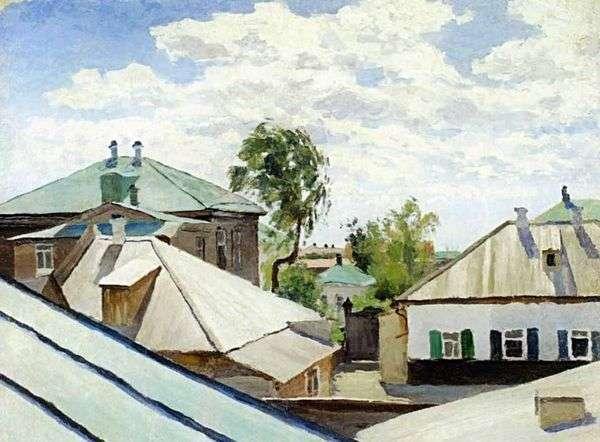 屋顶   Victor Elpidiforovich Borisov Musatov