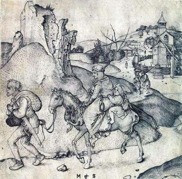 农民家庭在去市场的路上   Martin Schongauer