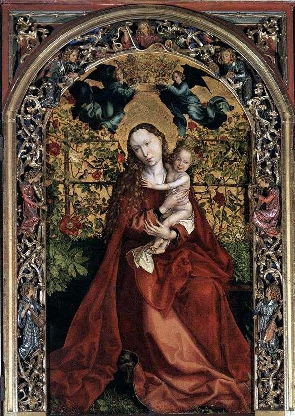 麦当娜在玫瑰的乔木   马丁Schongauer
