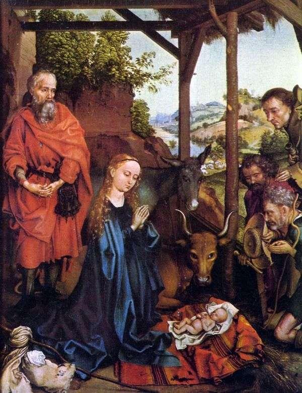 对牧羊人的崇拜   Martin Schongauer