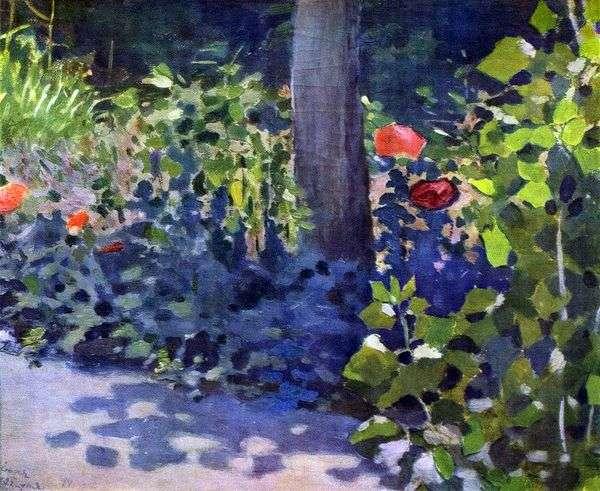 花园里的罂粟花   Victor Borisov Musatov