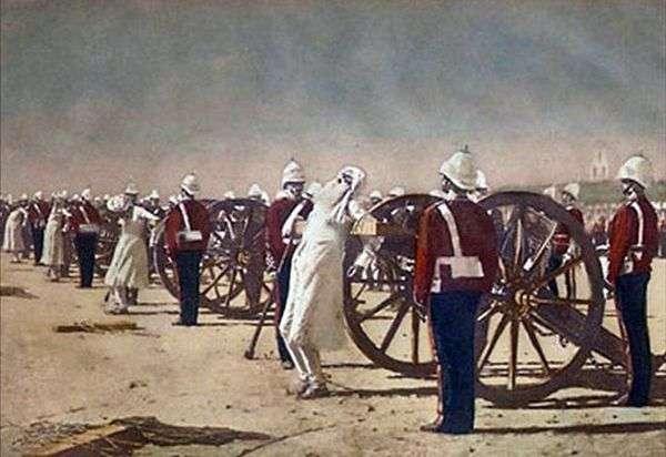 英国人瓦西里 韦列夏金(Vasily Vereshchagin)压制印度起义
