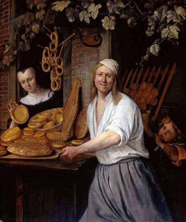 Baker Astward和他的妻子Katharina   Jan Steen